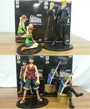 4pcs/lot 8-16cm japanese anime figures one piece figure PVC Luffy zoro sanji nami Model Collection doll kids toys