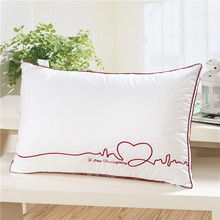 Direct manufacturers love wave pillow antibacterial anti mite cotton velvet feather pillow neck Hotel