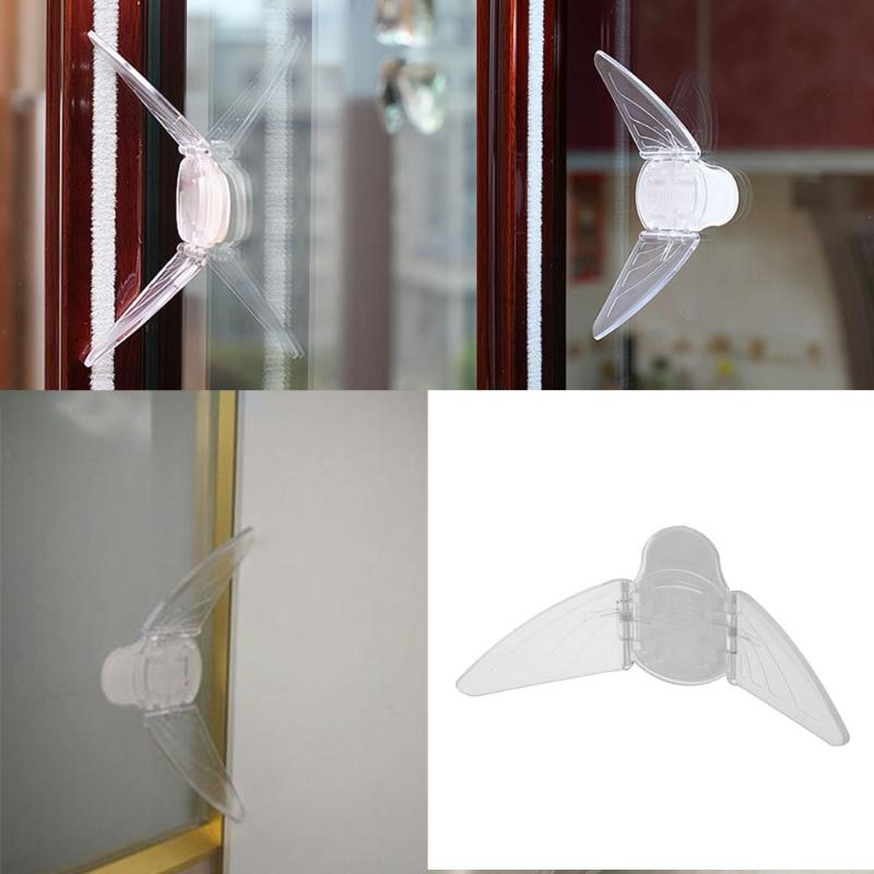 Baby Safety Lock Transparent Butterfly Sliding Doors Windows Cabinet Locks Childproof Door Stopper Kids Children Security Lock