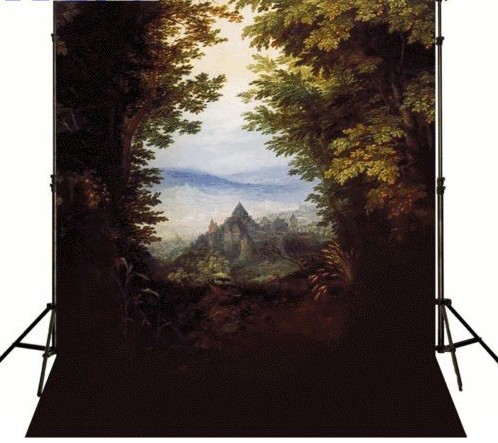 High-grade Vinyl cloth Computer printed mountain backdrop Dark forest trees mountain   Photography Backgrounds<br><br>Aliexpress