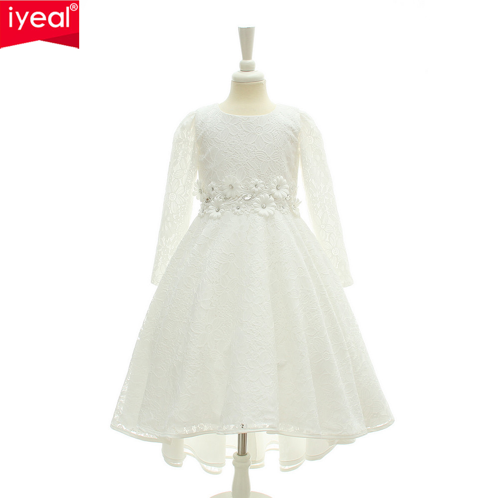 IYEAL High-end Lace Elegant Princess Girl Formal Evening Gown Kids Flower Wedding Dresses for Teenager Girl Birthday Party 4-12Y<br>