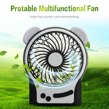 Portable Mini USB Fan Multifunctional Rechargeable Desktop Fan Handheld Personal Cooling Fan 3 Modes Wind Speeds Adjustable