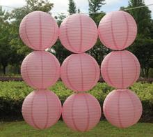 Free shipping 8''(20cm) Pink Chinese paper lantern home and party decoration wedding decoration 28 colors wedding lantern