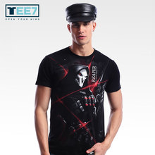 Buy New Arrival TEE7 Man Fashion T-shirts Watch Dark Cotton 3D-Printed Top Male Casual Cool Costume Round Collar Size M-4XL for $14.87 in AliExpress store