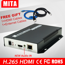 H.265 MPEG-4 HD HDMI Encoder for IPTV, Live Stream Broadcast, VLC/ HDMI Video Recording server DHL Free shipping(China)