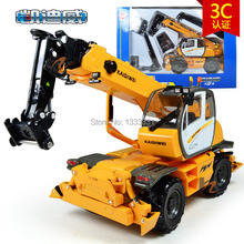 KDW  high quality alloy Engineering Vehicle model Wholesale children toy cars gift box 1:50 material transporter truck crane
