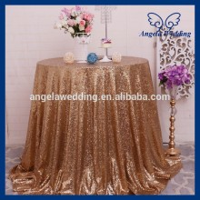 SN021B Cusom made Popular round cheap gold sequin table cloth(China)