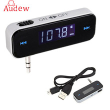 Mini Transmitter 3.5mm In-car Music Audio FM Transmitter Electronic Car MP3 Player 3.5mm Car Display 3.5 mm mp3 Car