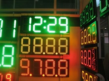 12 inch LED GAS OIL PRICE DISPLAY/LED GAS SIGNS in White/ Red / Green / Yellow / Blue Color(China)