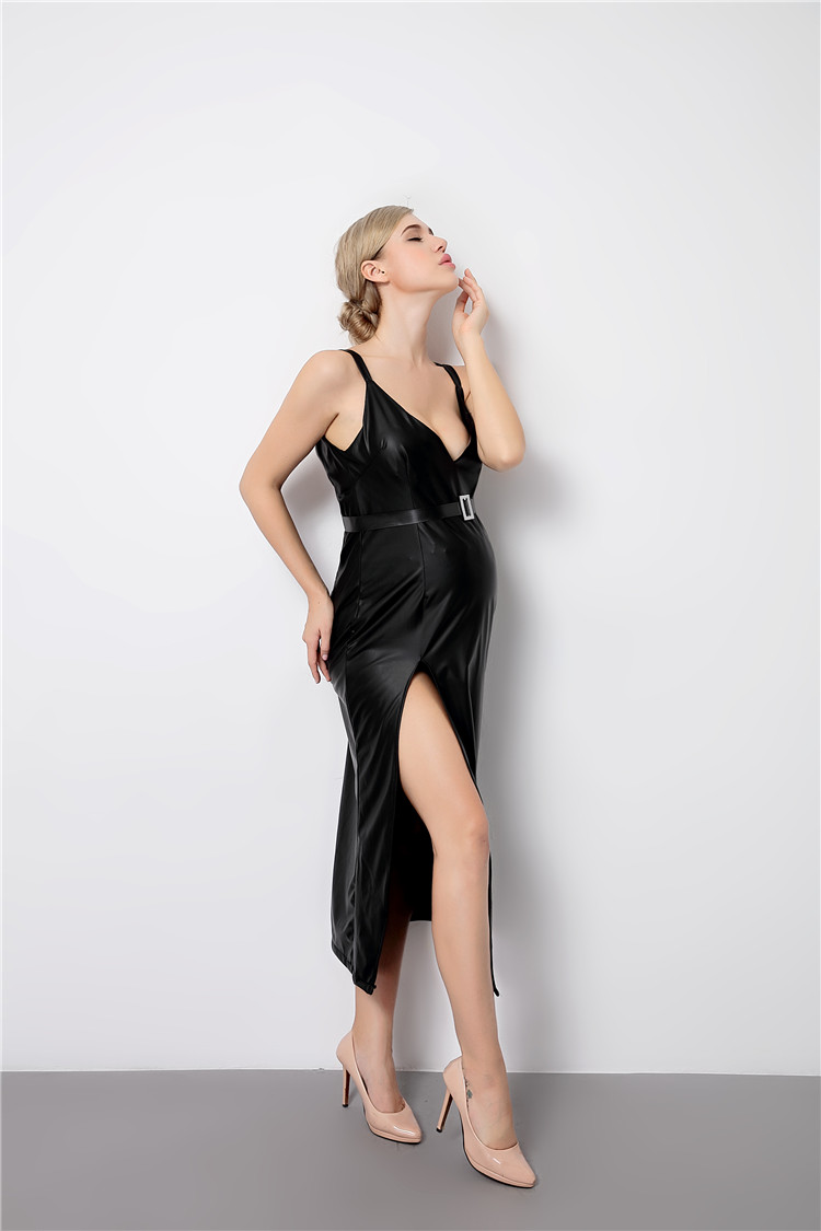 New Summer V-Neck Maternity Dress Pregnancy Clothes black PU fashion vestido Women Maternity photography Props maternity dress