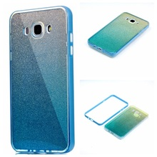 For Galaxy J7 (2016) TPU Cases PC Rim + Gradient Color Blue-ray IMD TPU Combo Cover for Samsung Galaxy J7 (2016) SM-J710 - 5.5''