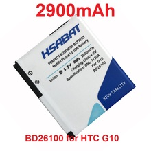 HSABAT 2900mAh BD26100 Battery Use for HTC G10 A9191 Desire HD Surround T8788 T9188 T9199 Tianxi HuaShan myTouch HD phone(China)