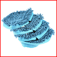 Free Shipping! Set of 6 Blue Big size microfiber cloth cleaning for Floor Cover for H2O Mop X5 /Vax X2 /Bionaire Steam Mop(China)