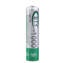 4pcs/lot Up to 1000 Times Rechargeable AAA NiMH Battery 1.2v 1000mah for Sony Digital camera Flashlight Free Shipping(China)