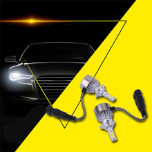 C9 2 x 9005/9006 COB Led Beam 72W 6000K/White Replacement Daytime Running Lights DRL Fog Headlight Driving Bulb Car-Styling(China)