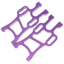 108019 Aluminum Front Lower Arms (L/R) For RC 1:10 Scale Redcat Volcano Epx (PRO) HSP Monster Truck Upgrade Parts Blue / Purple