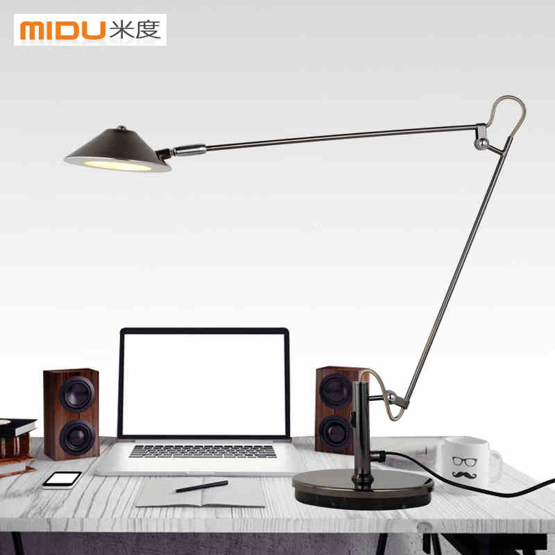 LED work lamp the students reading lamp bedside lamp that shield an eye telescopic folding metal American Long arm desk lamp<br><br>Aliexpress