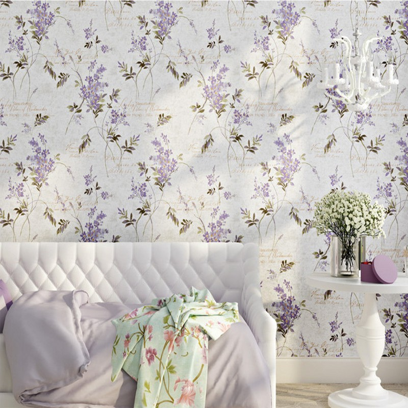 Free Shipping Beautiful nostalgic garden scenery flower tree wallpaper guest room balcony background wallpaper<br>