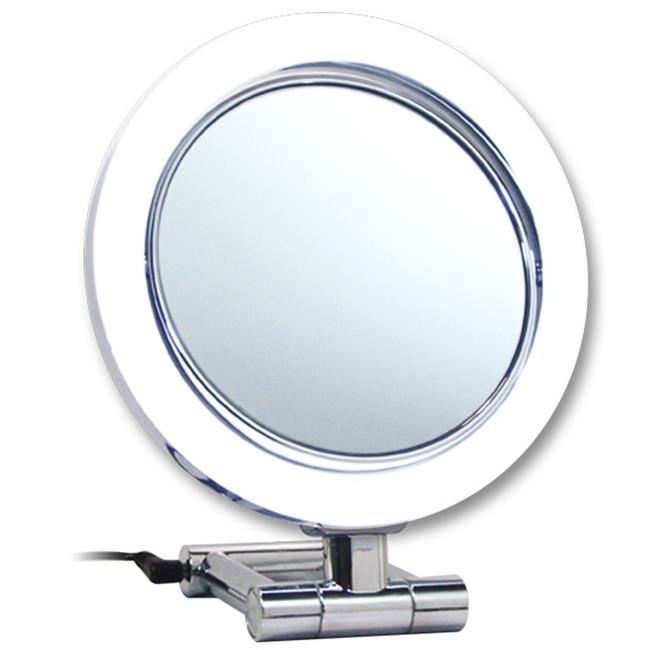 Rucci M896 10x and 1x Magnification Led Chrome Stand Mirror