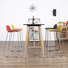 Modern Design Plastic and Metal Kitchen Room Counter Stool Bar Stool Fashion loft design Bar Furniture comfortable Bar Chair 2PC