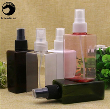 30 pcs Free Shipping 150 ml Plastic Empty Spray Square Perfume bottles Top New Style Cosmetic Water Parfume Empty Containers(China)