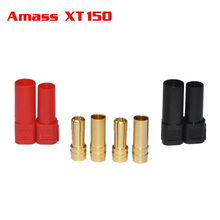 Black/Red Tarot Amass XT150 120A Large Current Plug 6.0mm Banana Connector for rc lipo battery(China)