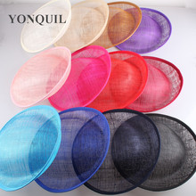 12 color 25CM big SINAMAY fascinator base making fascinators party millinery cocktail headwear wedding hairstyle kentucky hats