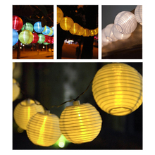 20 LED Lantern Ball Solar String Lights Outdoor Lighting Holiday Christmas Party Decorative Light Festival Lanterns Lamp