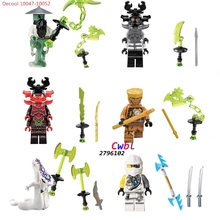6pcs Decool 10047-10052 Ninja MASTER YANG GENERAL KOZU Pythor Echo Zane mit Samurai X Chaos building blocks figure bricks toys