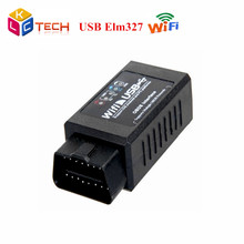 20pcs Latest Version V2.1 elm 327 With high quality Auto Car Diagnostic Interface ELM327 Wi-Fi USB Scanner tool OBD II OBD 2(China)