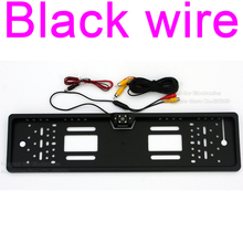 Vehicle reverse camera licence plate European License Plate Frame Backup Car Liscence Number Plat Rear View Reverse parcking