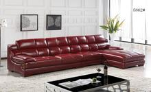 Free Shipping Top Grain Imported Double Color Cattle Leather, Luxury and duration,L shaped 3.6*1.8M Sofa Set,Grand Furniture