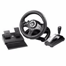 18S Vibration Racing Computer Games Steering Wheel Adjust Sensitivity PC Playing Game Steering Wheel Simulation To Drive(China)
