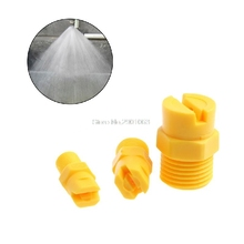 "Plastic Vee Jet Flat Fan Spray Nozzle 1/8""1/4"" 1/2"" Industrial Cleaning Washing H06"