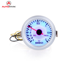 "Professional Turbo Boost Vacuum Press Gauge Meter for Auto Car 2"" 52mm -1~2BAR Blue LED Light Car Instrument for All Cars"