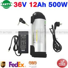 36v Lithium Battery 12ah 500w E-bike Battery 36v Battery Pack With 42v 2a Charger, Bms Electric Bike Battery Free Tnt Shipping