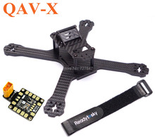 2016 Newest DIY Mini Drone FPV QAV-X 214mm 214 Cross Racing Quadcopter With  4mm Arms for QAV-X 210 Pure Carbon Fiber