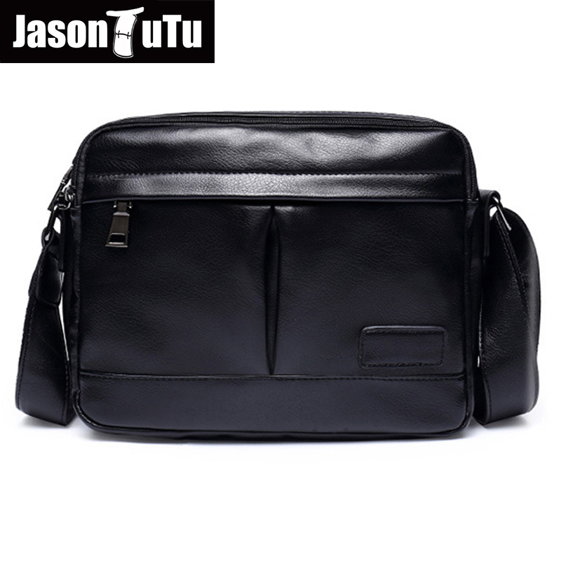famous brand Small bag High Quality PU Leather Men Crossbody Bags Black Cool Shoulder bags bolsos B116<br>