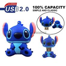 usb flash drive Lilo Stitch USB Flash Drive 64GB 32GB u disk 16GB 8GB blue pink stitch 4GB 2GB Pen Drive memory stick pendrive