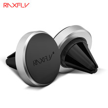 NEW RAXFLY Pop Magnetic Mobile Car Phone Holder Socket For iPhone Samsung Xiaomi Air Vent Magnet Mount Adsorption GPS Car Holder