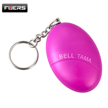 Personal Protection CuBlack Egg Shape Self-Defense Alarm Protect Women/Girl Alarm System Scream Loud Anti-Attack Keychain(China)