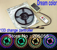 16ft Dream Color 6803 IC Chip 5M 5050 RGB LED Strip IP67 tube waterproof magic color digital 12v+133 Effects RF Controller+Power(China)
