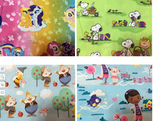 110*100CM Cartoon snow White dwarf Doc Mcstuffins cotton Fabric Child Baby Clothes/Diy Handmade Craft Bedding Home Purse Quilt