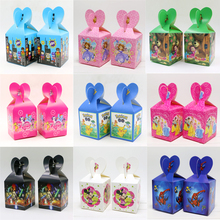 Minnie Baby Shower Masha Candy Box Mickey Birthday Party Hello Kitty Decoration Pokemon Go Gifts Boxes Trolls Supplies 6pcs\lot