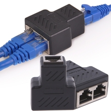 OPEN-SMART 1 To 2 Ways LAN Ethernet Network Cable RJ45 Female Splitter Connector Adapter  (China)