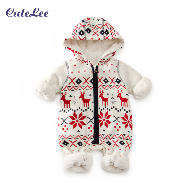 Baby Rompers Winter Thick Climbing Clothes Newborn Boys Girls Warm Romper Christmas Deer Hooded Outwear<br><br>Aliexpress
