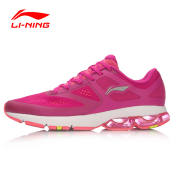 Li-Ning Women's Cushioning Running Shoes Breathable Sneakers Half Air Sole Sports Shoes ARHL092 XYP455