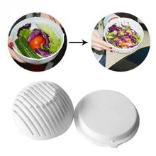 1 Pc Practical Easy Make Salad Salad Maker Cutter Bowl High Quality Original Salad Bowl Tools