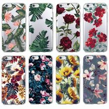 Buy Fashion Vintage Floral Pattern Rose Sunflower Soft Tpu Phone Case Coque Fundas iPhone 7Plus 7 6Plus 6 6S 5 5S 8 8Plus X for $1.39 in AliExpress store