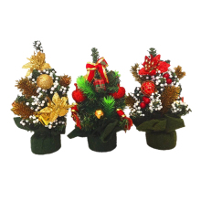 UESH-1 pc 20cm Mini Artificial Christmas Tree Decoration Gift Decor Ornament for Table House Party Christmas 4 Random styles